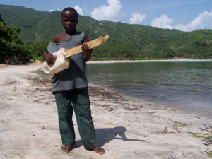 Haitian Boys sings to Mother Earth
